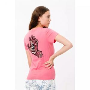 Tričko Santa Cruz Speckled Hand T-Shirt Pink Lemonade