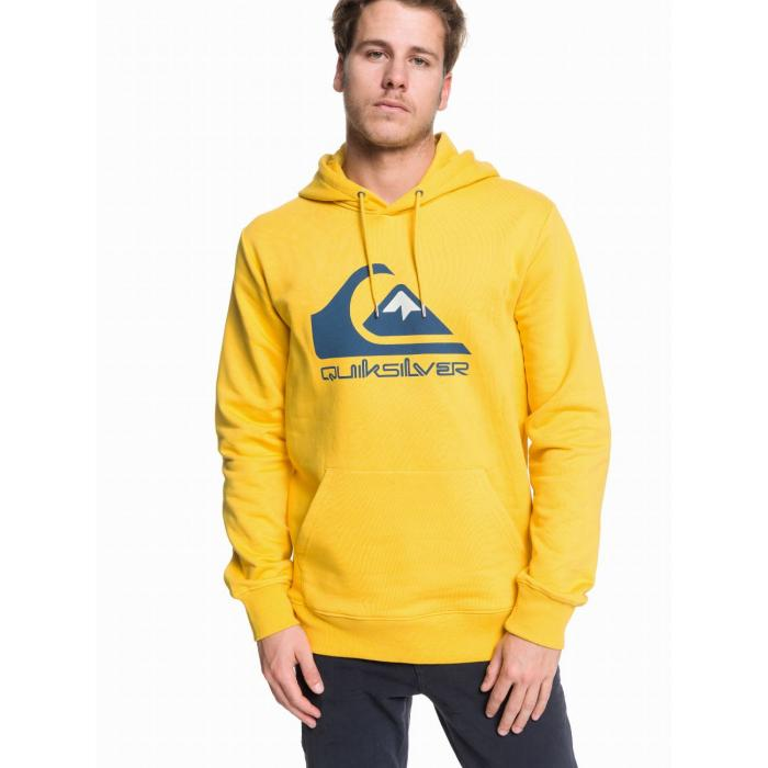 Mikina Quiksilver OMNI LOGO SCREEN FLEECE SULPHUR