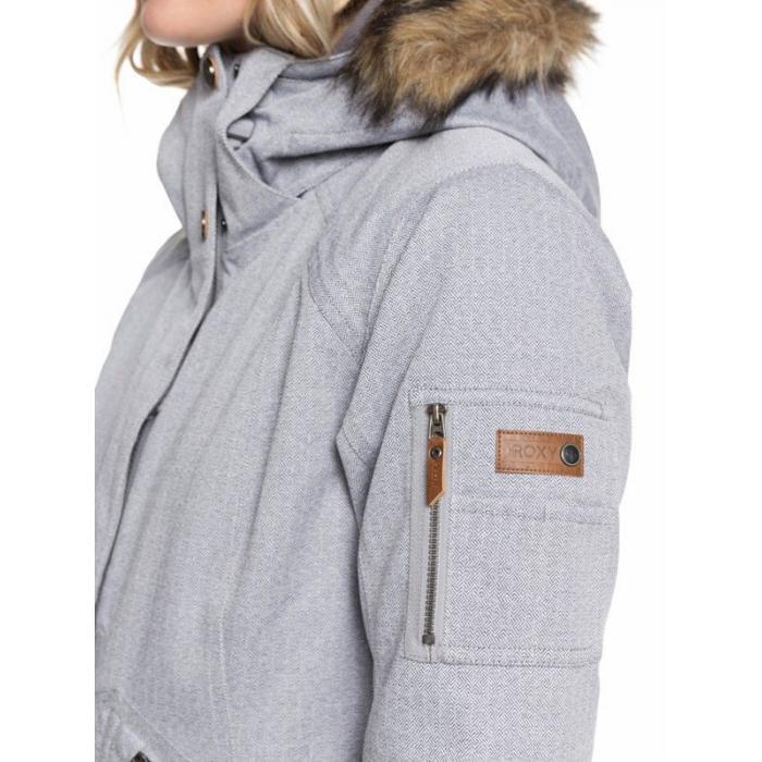 Zimní bunda Roxy MEADE JK HEATHER GREY