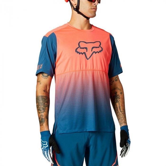 Pánský cyklodres Fox Flexair Ss Jersey Atomic Punch