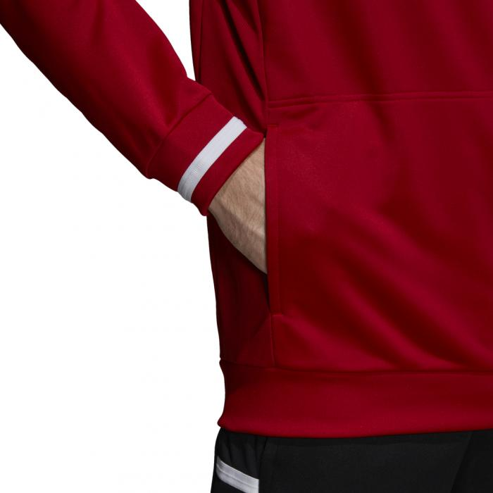 Mikina Adidas T19 HOODY M POWRED/WHITE