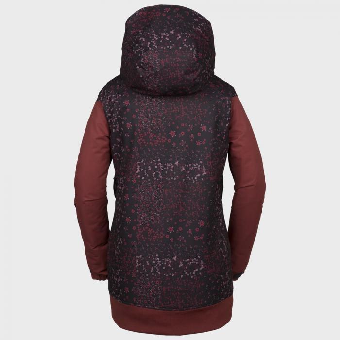 Zimní bunda Volcom Meadow Ins Jacket Black Floral Print