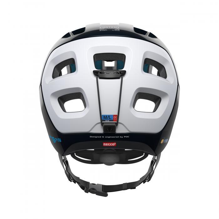 Cyklistická helma POC Tectal Race SPIN Uranium Black/Hydrogen White