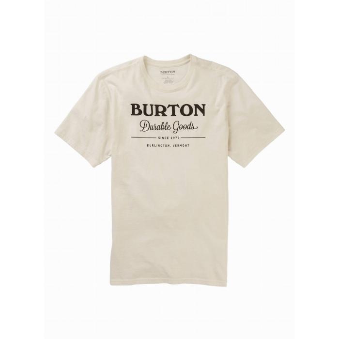 Tričko Burton DURABLE GOODS SS STOUT WHITE