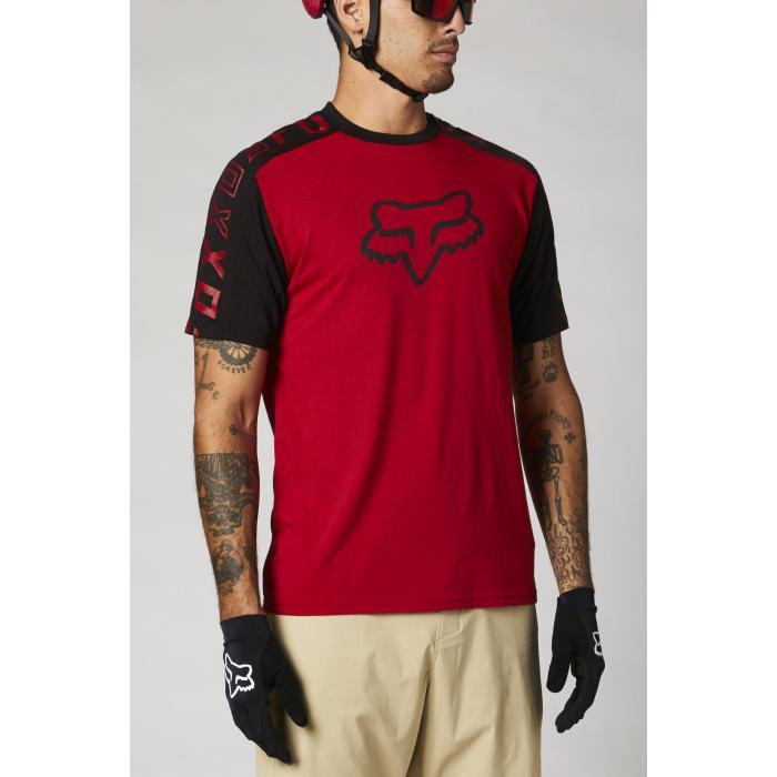 Pánský cyklodres Fox Ranger Dr Ss Jersey Chilli