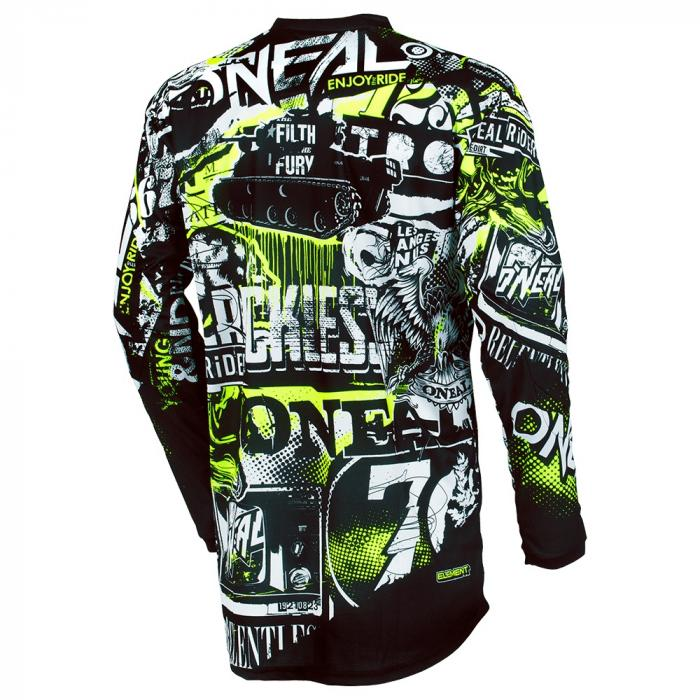 Pánský cyklodres Oneal ELEMENT ATTACK black/neon yellow