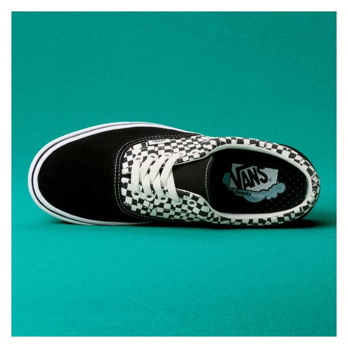Boty Vans ComfyCush Era TEAR CHECK BLACK/TRUE WHITE