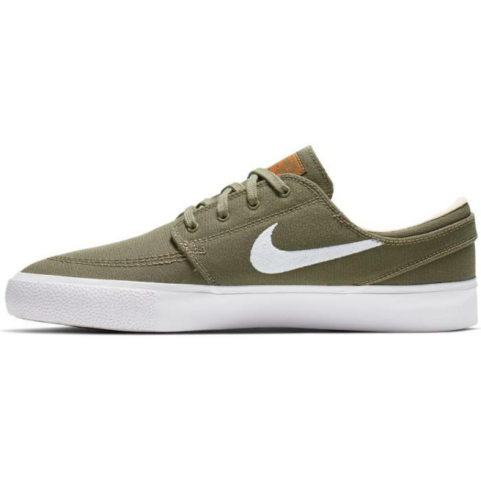 Boty Nike SB ZOOM JANOSKI CNVS RM medium olive/white-campfire orange-black