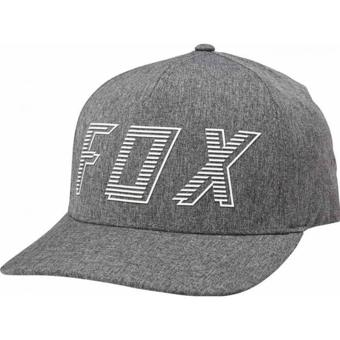 Kšiltovka Fox Barred Flexfit Hat Dark Grey