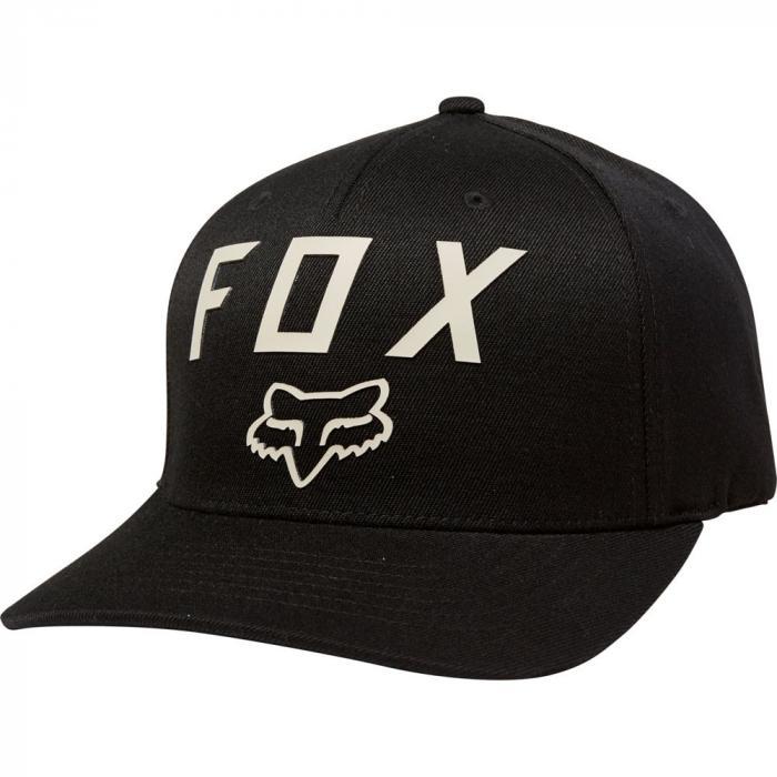 Kšiltovka Fox Number 2 Flexfit Hat Black/Dark Khaki