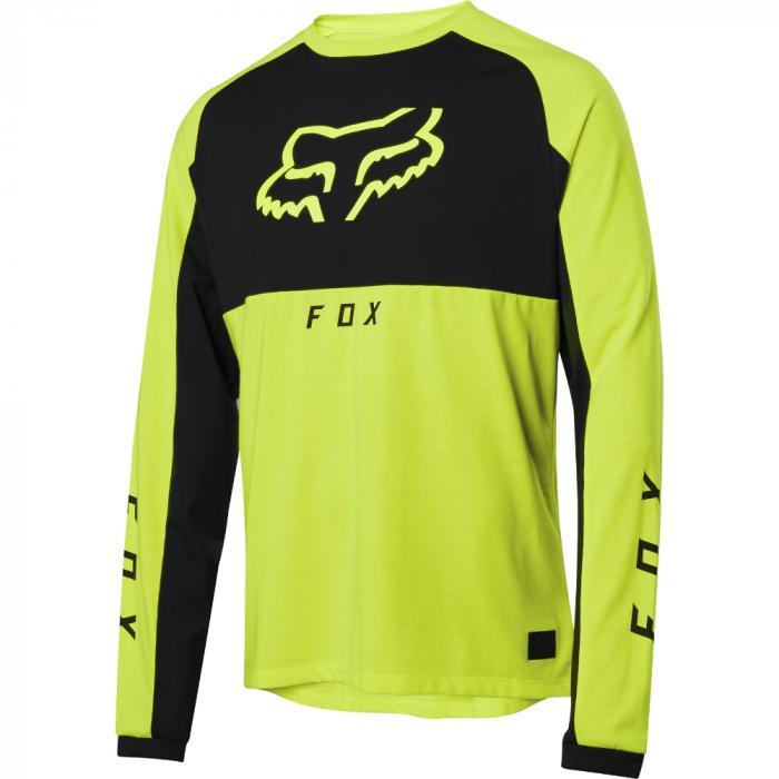 Pánský cyklodres Fox Ranger Dr Mid Ls Jersey Day Glo Yellow