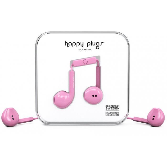 Sluchátka Happy Plugs Earbud Plus Pink