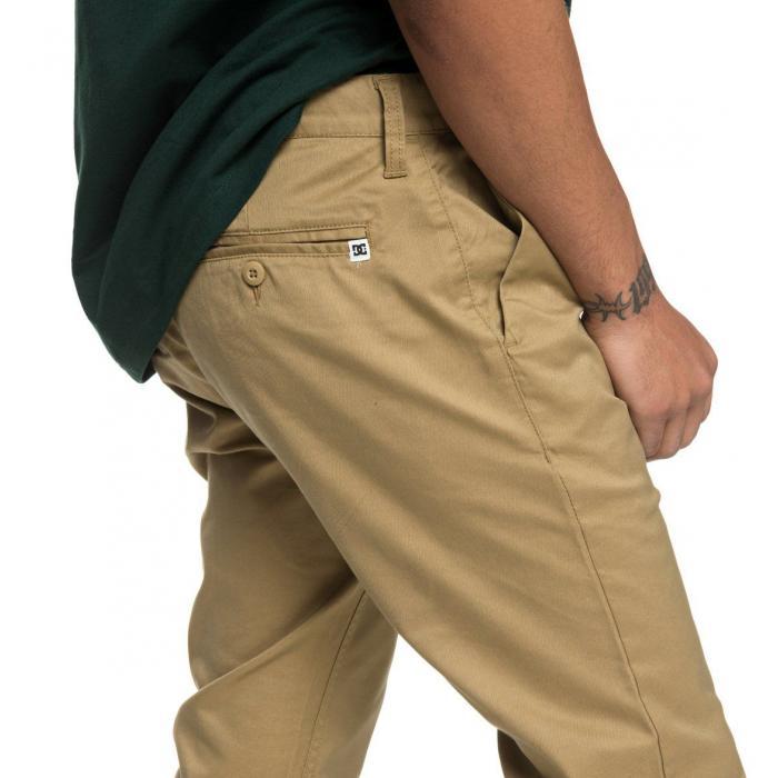 Kalhoty DC WORKER STRAIGHT KHAKI