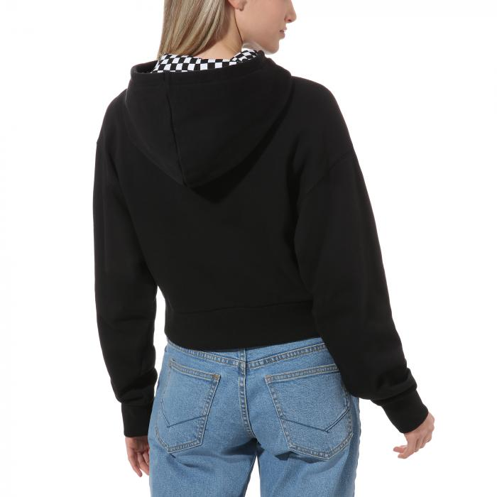 Mikina Vans STRAIGHTENED OUT HOODIE Black