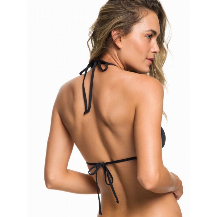 Plavky Roxy Garden Summers - Tiki Tri Bikini Top TRUE BLACK
