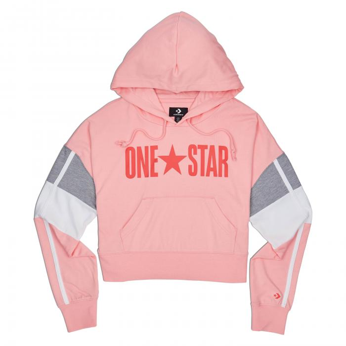 Mikina Converse Jersey PO Hoodie BLEACHED CORAL