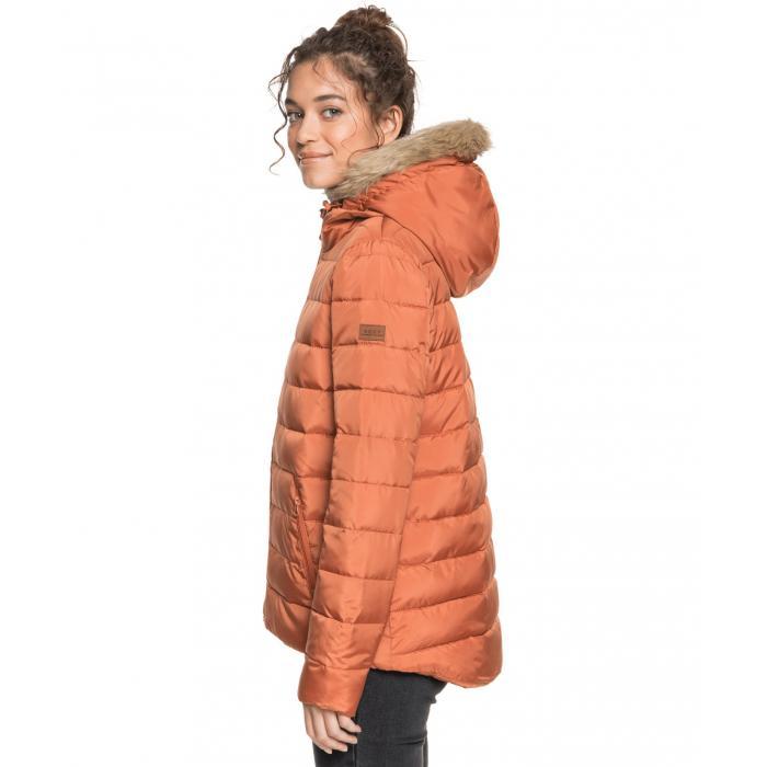 Zimní bunda Roxy ROCK PEAK FUR AUBURN