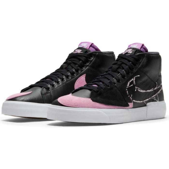 Boty Nike SB ZOOM BLAZER MID EDGE L black/pink rise-white-purple nebula