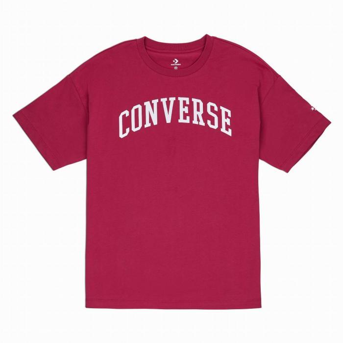 Tričko Converse Icon Remix OS Boxy Tee RHUBARB