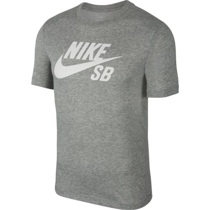 Tričko Nike SB DRY TEE DFCT LOGO dk grey heather/white