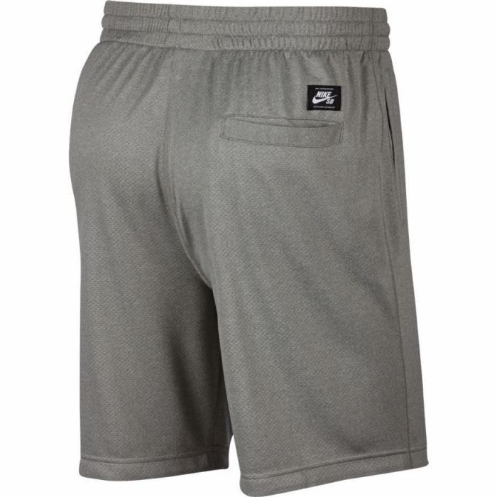 Kraťasy Nike SB DRY HBR SUNDAY SHORT dk grey heather/white