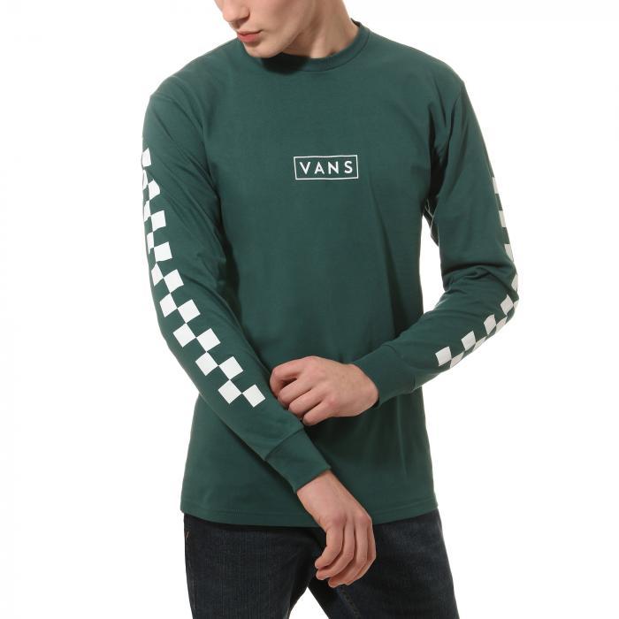 Tričko Vans EASY BOX CHECKER TREKKING GREEN