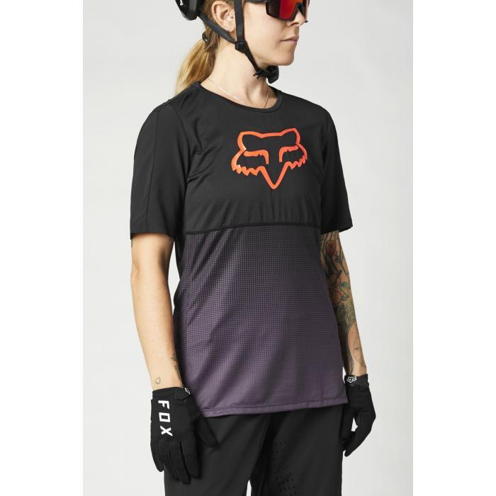 Cyklodres Fox W Flexair Ss Jersey Black/Purple