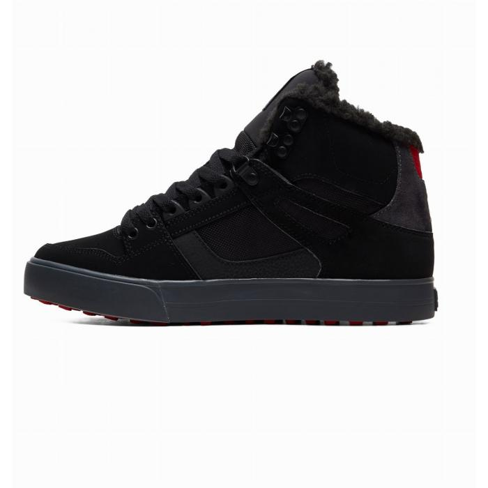 Boty DC PURE HIGH TOP WC WNT BLACK/GREY/RED