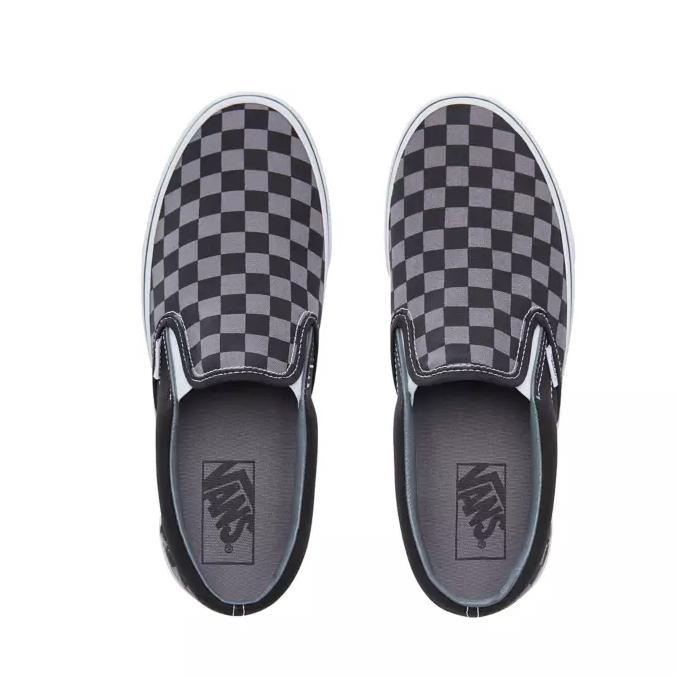 Boty Vans Classic slip-on black/pewter checkerboard