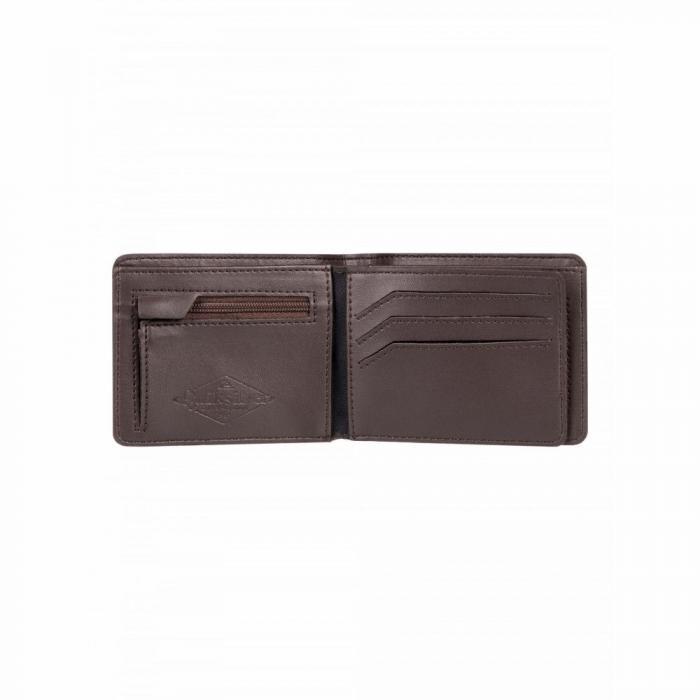 Peněženka Quiksilver MACK IX CHOCOLATE BROWN