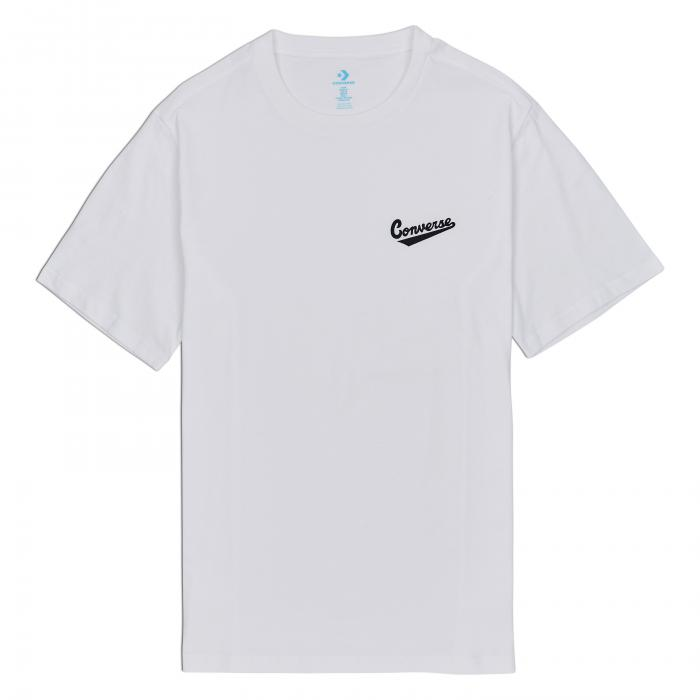 Tričko Converse LEFT CHEST LOGO TEE WHITE