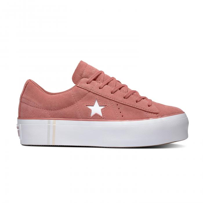 Boty Converse ONE STAR PLATFORM SEASONAL SUEDE LIGHT REDWOOD/WHITE/WHITE