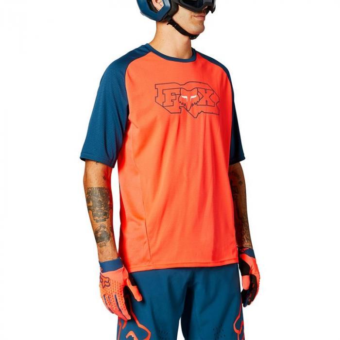 Pánský cyklodres Fox Defend Ss Jersey Atomic Punch
