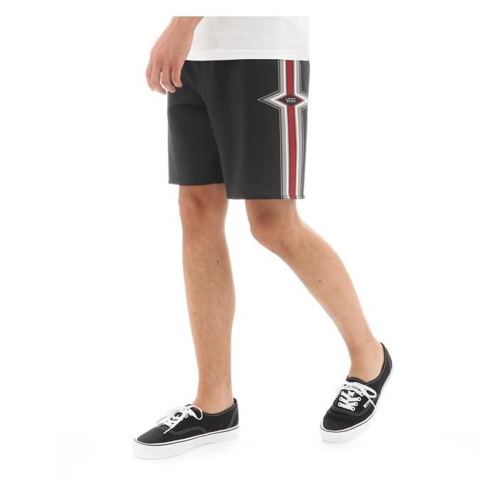 Koupací šortky Vans STRINGER BOARDSHORT Black