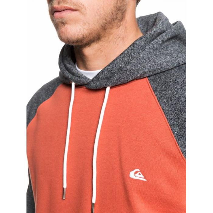 Mikina Quiksilver EVERYDAY HOOD BURNT BRICK