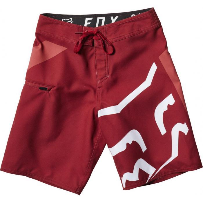 Koupací šortky Fox Youth Stock Boardshort Cardinal