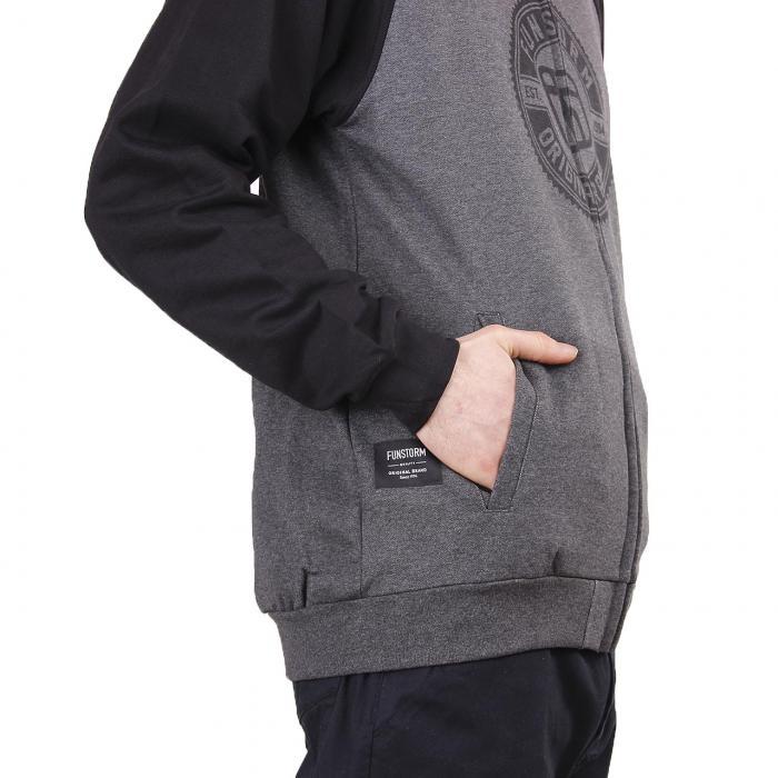 Mikina Funstorm Dareton dark grey