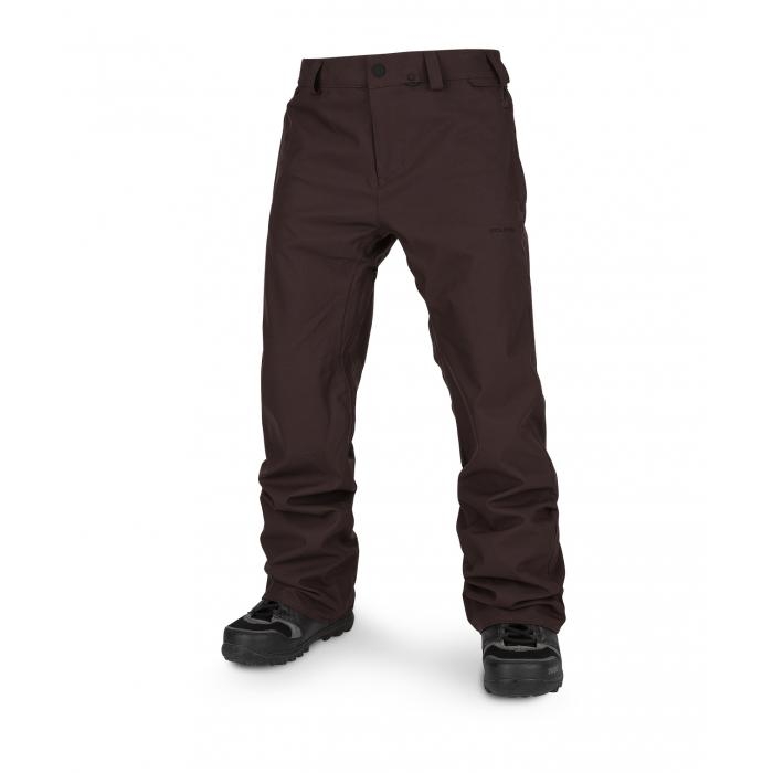 Snowboardové kalhoty Volcom Freakin Snow Chino Black Red