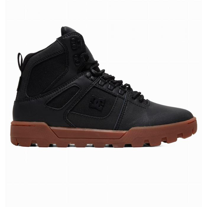 Boty DC PURE HIGH TOP WR BOOT BLACK/GUM
