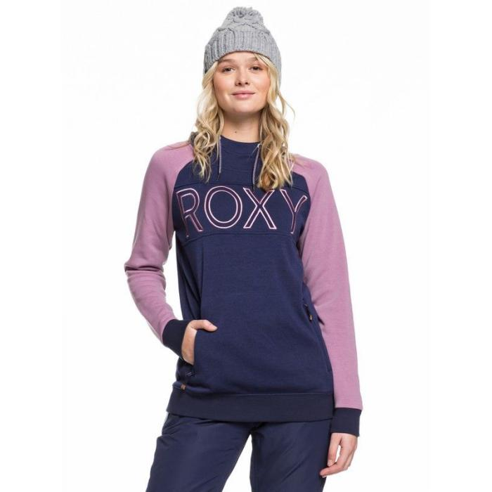 Mikina Roxy LIBERTY HOODIE MEDIEVAL BLUE