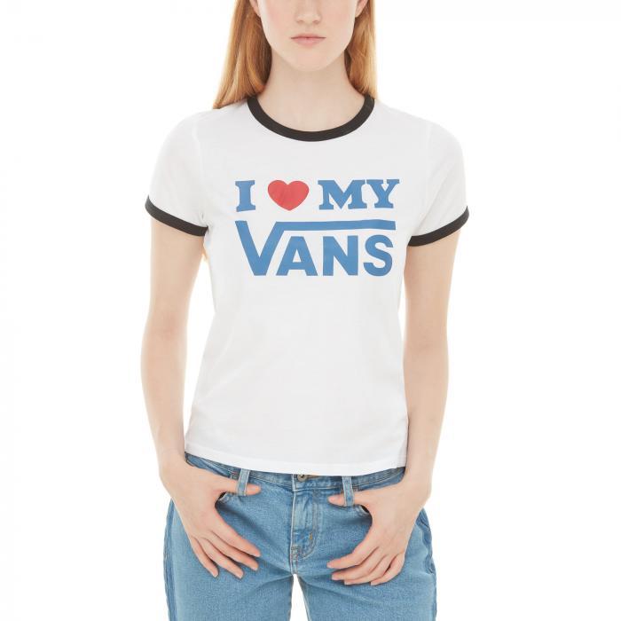Tričko Vans LOVE RINGER White/Black