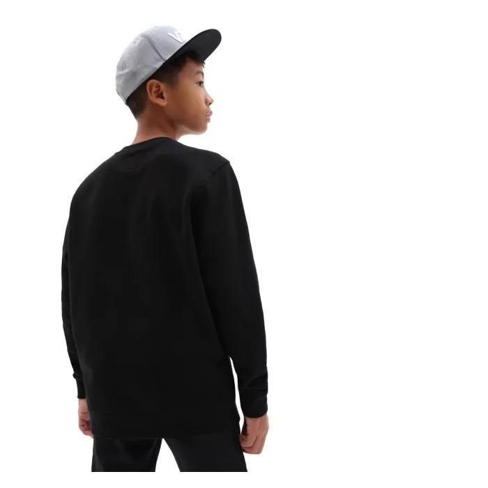 Mikina Vans CLASSIC CREW BOYS Black/White