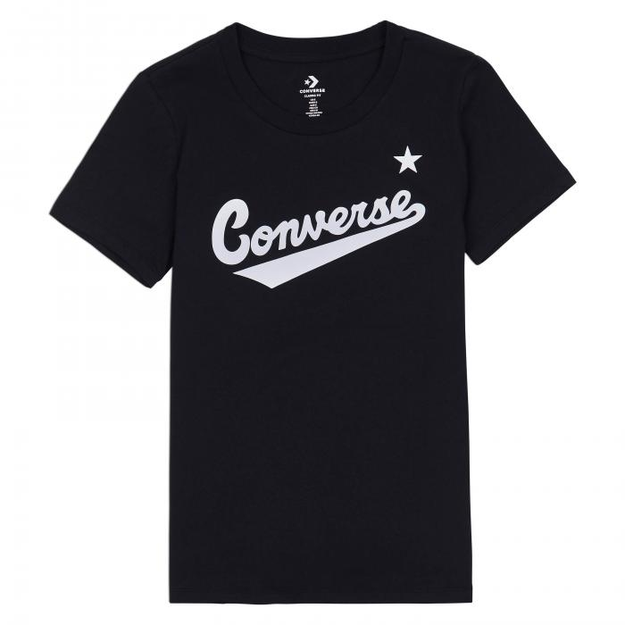 Tričko Converse CENTER FRONT LOGO TEE BLACK