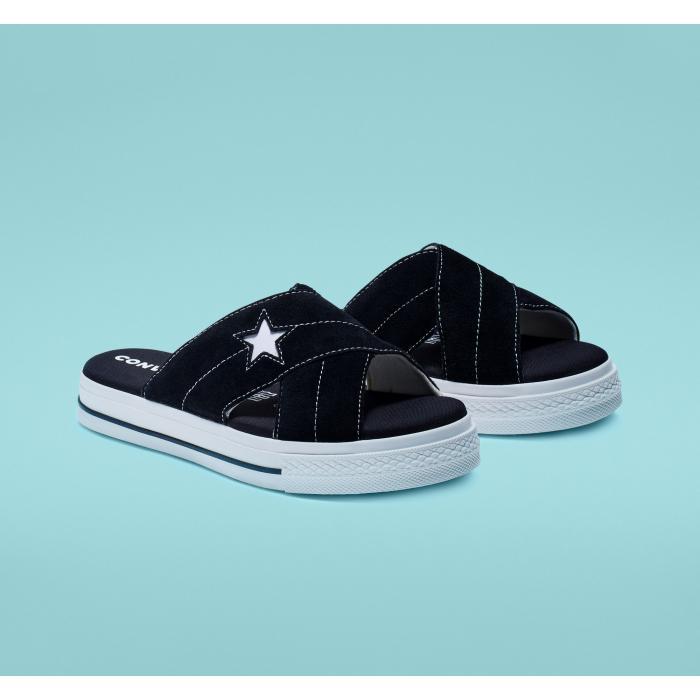 Pantofle Converse One Star Sandal BLACK/EGRET/WHITE