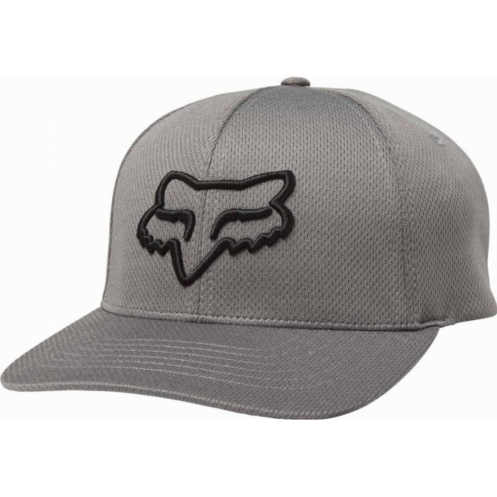 Kšiltovka Fox Lithotype Flexfit Hat Dark Grey