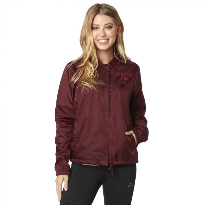 Bunda Fox Pit Stop Coaches Jacket Cranberry