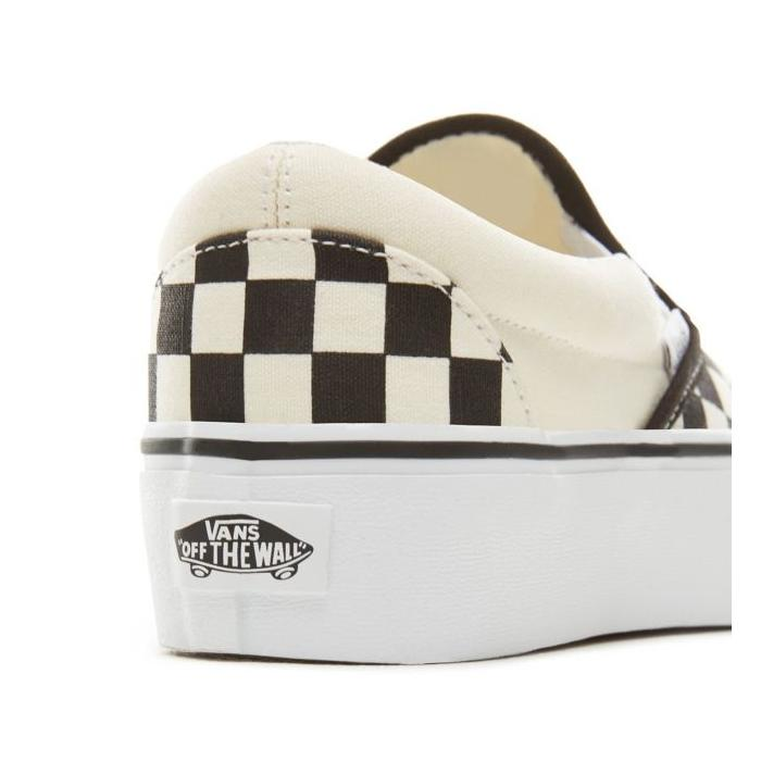 Boty Vans Classic Slip-On Platform Blk&WhtChckerboad/wht