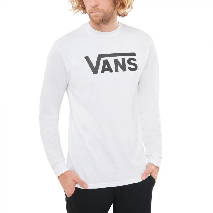 Tričko Vans CLASSIC LS White/Black