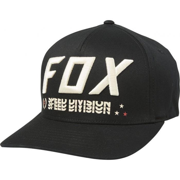 Kšiltovka Fox Triple Threat Flexfit Hat Black