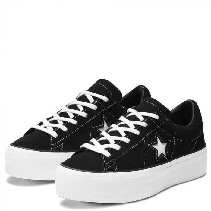 Boty Converse ONE STAR PLATFORM BLACK/BLACK/WHITE